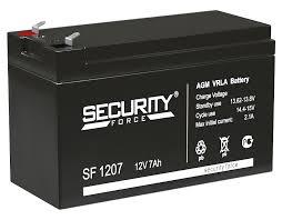 Аккумуляторная батарея <b>Security Force Аккумулятор</b> 12В 7 А∙ч ...