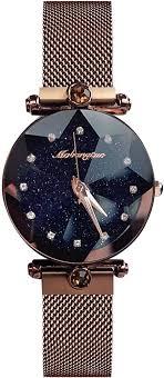 Amazon.co.jp: RORIOS Fashion <b>Starry Sky Watch</b> Women Quartz ...
