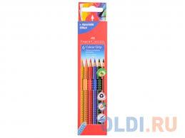 Набор цветных <b>карандашей Faber</b>-<b>Castell Grip</b> 2001 6 шт ...