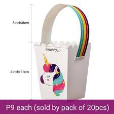 FP633 (<b>20 PCS</b>) <b>Unicorn</b> Party <b>Gift</b> Candy Favor Souvenir Box ...