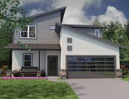 Design contemporary story house plansThree Bedroom With Modern Angles