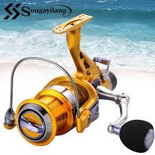 Sougayilang Carp Fishing Reel <b>4.9:1</b>/<b>5.2:1</b> Gear Ratio Fishing Reel ...