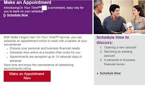 at a glance on your time service for wells fargo bank customers we