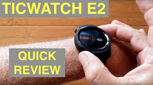 <b>Ticwatch E2</b> Full <b>Android</b> WearOS 5ATM Waterproof Dress ...