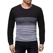 IEasOn Men Pullover Fashion <b>Autumn Winter Round Neck</b> Long ...