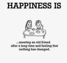 old best friends meme | Happiness is meeting an old friend after a ... via Relatably.com