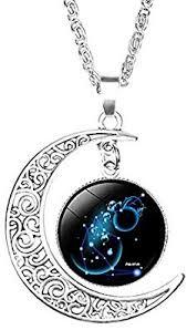 Skyeye Classical <b>Twelve Constellations</b> Pendant Necklace Carved ...
