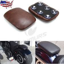 6 Suction Brown <b>Rear</b> Rectangular <b>Pillion Passenger</b> Pad <b>Seat</b> For ...