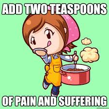 Add two teaspoons of pain and suffering - Misc - quickmeme via Relatably.com