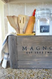 Vintage Farmhouse Kitchen Decor 5 Ways To Style A Wooden Crate Little Vintage Nest