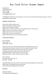 driver resumes  box truck driver resume sampleshare   friends and family and sp the joy
