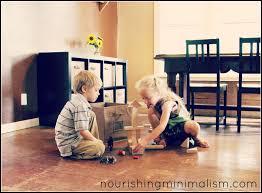 minimalist living with kids