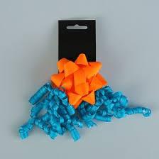 <b>Набор бант</b>-<b>звезда</b> 9 см, бант-мишура, оранжево-синий ...
