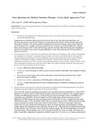 answer guide for medical nutrition therapy a case study