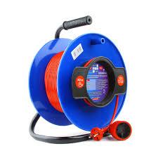Удлинитель на катушке <b>50м</b> (1 розетка) <b>PowerCube</b> PC-B1-K-50 ...