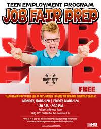 teen employment program job fair prep