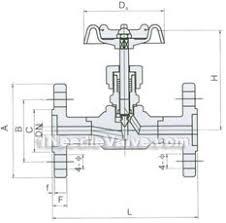 j w h flange needle valve made in china needle valvesj w h flange needle valve constructral diagram