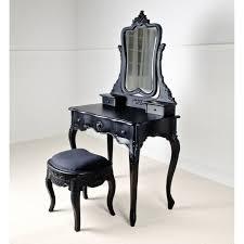 white wooden mirror vanity table black desk vintage espresso wooden