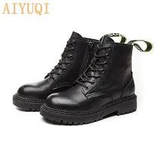 <b>AIYUQI Boots Women Flat</b> Boots Women Large Size 42 43 44 ...