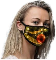 <b>Reusable</b> Face_Mask <b>Christmas Theme</b> Printed, Qstarts Unisex ...