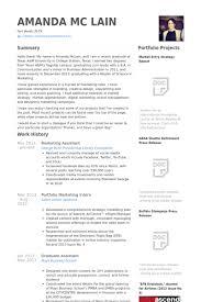 Marketing Assistant Resume Samples   VisualCV Resume Samples Database VisualCV