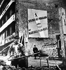 cold war construction in west berlin under marshall plan aid