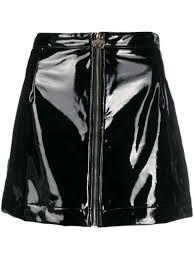 Chiara Ferragni <b>A-Line</b> Faux <b>Leather Skirt</b>   Farfetch.com