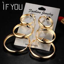 Popular <b>Vintage</b> Trendy Gold Color <b>Hoop Earrings</b> for Women-Buy ...