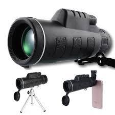 <b>40x60</b> zoom optical lens monocular telescope + clip + tripod for ...