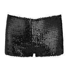 dPois <b>Women's Glitter</b> Shorts <b>Sequin</b> Shining Metallic Booty Dance ...