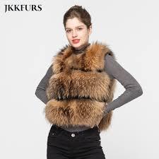 <b>JKKFURS 2019 Fashion Style</b> Women Real Raccoon Fur Vest ...