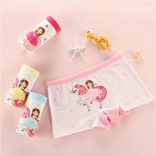 4 <b>Pieces</b>/Set Fit 2-12Year Girl <b>Panties</b> Soft Cotton <b>Kid Underwear</b> ...