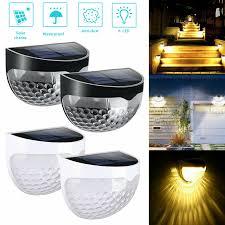 6 <b>LED</b> Solar Powered <b>Gutter</b> Fence Lights <b>Outdoor</b> Garden ...