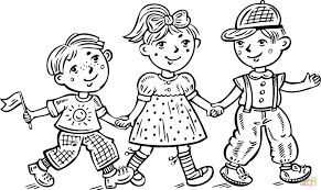Small Picture Children Boys and a Girl Celebrating coloring page Free