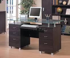 espresso finish contemporary office desk w glass top bush aero office desk design interior fantastic