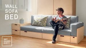 How to Make a Sofa for the Wall <b>Sofa Bed</b> System // Tiny Apartment ...