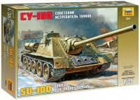 <b>Сборная модель Zvezda</b> Soviet Self-Propelled Gun <b>SU</b>-<b>100</b> (1:35)