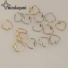 20pcs/lot 12MM Zinc Alloy Gold Silver Mini Sweet <b>Hollow Love</b> ...