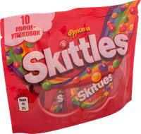 <b>Конфеты SKITTLES жевательные</b> фрукты 10 мини-упаковок ...