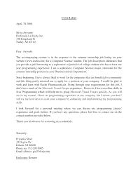 internship sample cover letters for internship