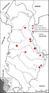 Distribution of Linum punctatum subsp. pycnophyllum, Crocus flavus ...