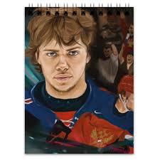 "Блокнот ""Артемий Панарин"" #2387136 от <b>hockey</b> design - <b>Printio</b>"