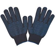<b>Перчатки</b> хозяйственные хлопковые 100 пар, <b>черные, с ПВХ</b> ...