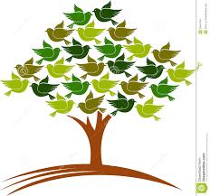 Resultado de imagen de pájaros en un árbol