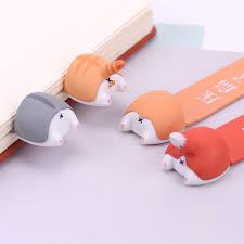 <b>PVC Cute Kawaii Dog</b> Cat Hamster Fox Ass Bookmark for Book ...