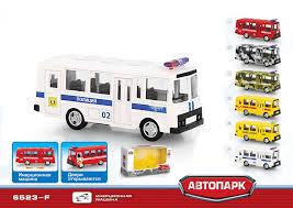 Инерционный металлический <b>автобус Play Smart</b> полиция Р49231