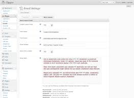 wordpress coupon theme clipper custom email settings