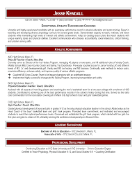 physical education teacher resume perfect resume  physical education teacher resume