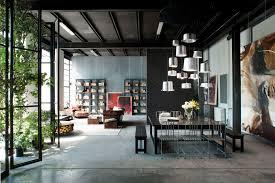 designer eclectic industrial living room loft