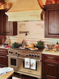 country living room ci allure: classic italian kitchen with painted range hood